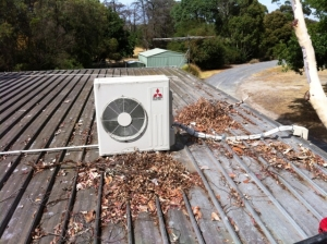 Ac Cleaning on Roof