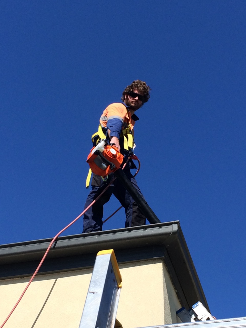Double Story Gutter Cleaning View