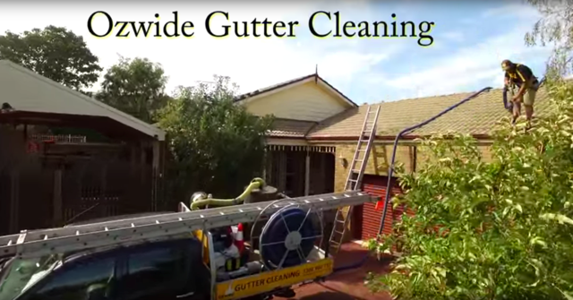 Drone view Gutter Cleaning