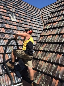 Gutter Cleaning for steep roofs
